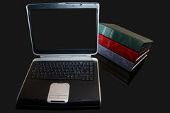 Book and laptop. Legal book and laptop on table Royalty Free Stock Photos