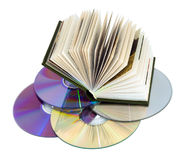 Book and laser disks Royalty Free Stock Photography
