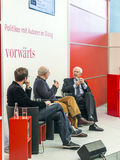 Book launch at the vorwaerts stand at the Frankfurt Book Fair 2014 Stock Photography