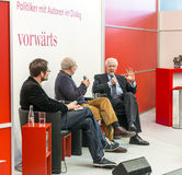 Book launch at the vorwaerts stand at the Frankfurt Book Fair 2014 Stock Photos