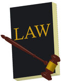BOOK LAW and hammer justice Stock Photo