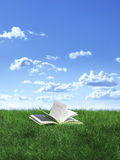 Book on lawn Stock Photo