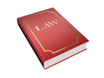 Book of laws. Red book of laws isolated on a white background Stock Photography