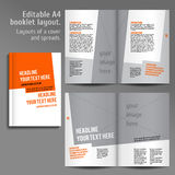 A4 book  Layout Design Template Stock Photos