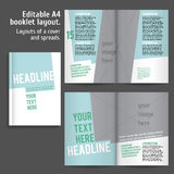 A4 book  Layout Design Template Stock Image