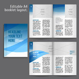 A4 book Layout Design Template. A4 book geometric abstract Layout Design Template with Cover and 2 spreads of Contents Preview. For design magazines, books vector illustration