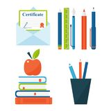 Book learn literature study opened and closed education knowledge document textbook vector illustration Royalty Free Stock Photos