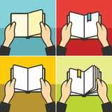 Book for learning in hands vector Stock Images