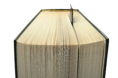 Book with leather bookmark Royalty Free Stock Photos