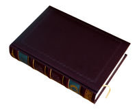 Book in leather cover Stock Photo