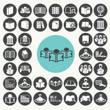 Book and Library icons set. Stock Images