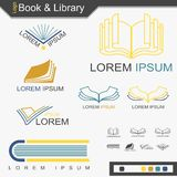 Book And Library Logo - Vector. Book And Library Logo for decoration artwork about business of bookstore - Vector vector illustration