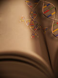 The Book of Life. DNA strands emerge from a book The Book Of Life Royalty Free Illustration