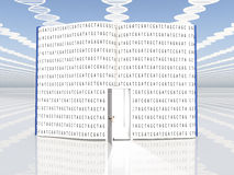 Book of Life. Book with genetic code and DNA Strand Clouds Stock Image