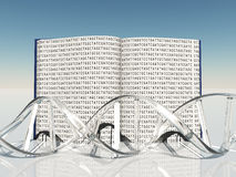 Book of Life. Book with Gentic Code and Strand of DNA Royalty Free Stock Photos