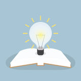 Book with light bulb Royalty Free Stock Image
