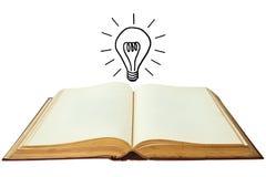 Book of lightbulb Royalty Free Stock Image