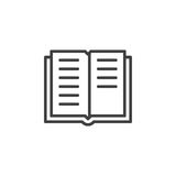 Book line icon, outline vector sign