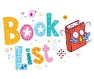 Book list Stock Photo