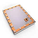 Book and lock, 3D Royalty Free Stock Photo