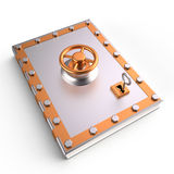 Book and lock, 3D Royalty Free Stock Photography