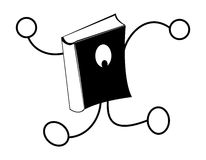 Book logo. Book going some where Royalty Free Stock Photography