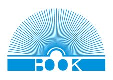 Book logo. The inllstration of book logo Royalty Free Stock Image