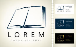 Book logo. Design vector illustration Stock Image