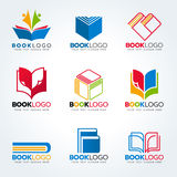 Book logo for education and business vector set design Royalty Free Stock Photos