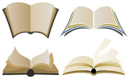 Book Logo Elements. A set of books in different styles for use as an element in a logo design Stock Photo