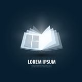 Book. logo, icon, sign, emblem, template Stock Photography