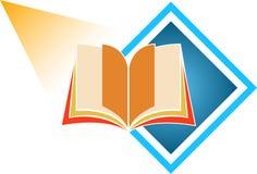 Book logo. Illustration art of book logo on isolated background Stock Photo