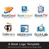 Book Logo Template Design Vector