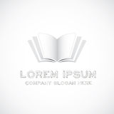 Book logo. On white background Stock Photography