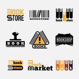 Book logos royalty free stock images