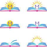Book logos. A vector drawing represents book logos design Royalty Free Stock Images