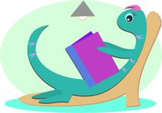 Book Lounge Lizard Royalty Free Stock Images
