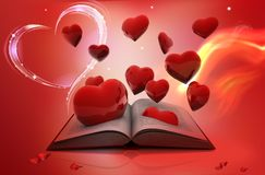 Book and love Stock Photos
