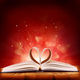Book of love. On red background royalty free stock image