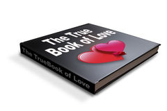 Book of love. A book with the title book of love Stock Photos
