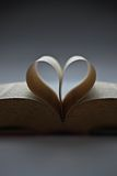 Book with the love shape Royalty Free Stock Photo