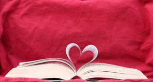 The Book of Love two. Book of love with curved pages. Background, sharp at the pages Stock Images