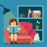 Book lover illustration Stock Image