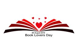Book Lovers Day 9th August. Book Lovers Day vector is so beatiful royalty free illustration