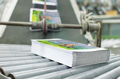 Book, magazine,  production line into press plant house Royalty Free Stock Photography