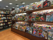 Book and magazines selling at store Stock Photos