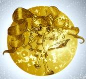 Book Magic Feast. The magic of books illustrated manga style Stock Image