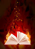 Book of magic fire Royalty Free Stock Photography