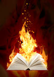 Book of magic fire vector illustration