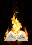 Book of magic fire Stock Image